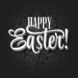 Easter greeting card. Holiday typography Stock Photography