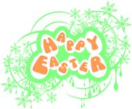 Easter greeting card with flowers isolated Royalty Free Stock Photo