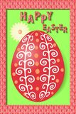 Easter greeting card with painted egg Stock Photos