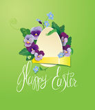 Easter greeting card with paper egg Royalty Free Stock Photography