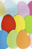 Easter Greeting Card with paper eggs. Easter background  with colorful paper eggs Royalty Free Stock Images