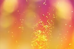Bokeh background. Golden confetti on background. Defocused blushing background. Festive theme style. Easter card. Easter greeting card. Party style background royalty free stock photos