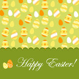 Easter greeting card with pattern Stock Images