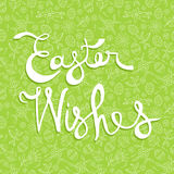 Easter greeting card quote on doodle background Stock Photography