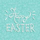 Easter greeting card quote on holiday background Royalty Free Stock Image