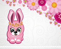Easter greeting card the rabbit. Royalty Free Stock Photos
