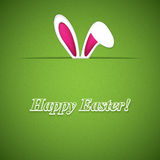 Easter greeting card with rabbit ears Stock Photos