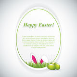 Easter greeting card with rabbit ears Stock Images