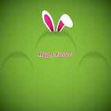 Easter greeting card with rabbit ears Royalty Free Stock Photo