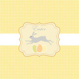 Easter greeting card with rabbit Stock Images