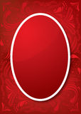Easter Greeting Card with red egg Stock Photo