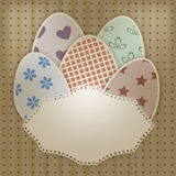 Easter greeting card with retro eggs Stock Image