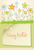 Easter greeting card with spring flowers Royalty Free Stock Photos