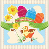 Easter greeting, card template Stock Photography