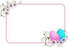 Easter greeting card - vector. Illustration of an floral easter greeting card. EPS file available Stock Photo