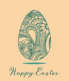 Easter greeting card vector illustration Stock Image