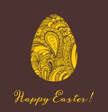 Easter greeting card vector illustration Royalty Free Stock Image