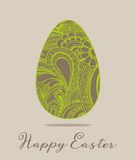 Easter greeting card vector illustration Royalty Free Stock Images