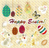 Easter greeting card in vintage style Royalty Free Stock Photo