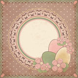 Easter greeting card in vintage style Stock Photo