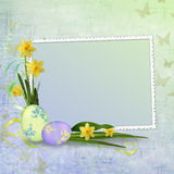 Easter Greeting Card With Decorative Egg Stock Images