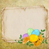 Easter Greeting Card With Decorative Egg Stock Photo