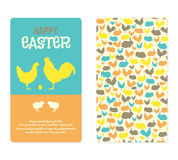 Easter Greeting Cards with farm  animal silhouettes. Royalty Free Stock Photo