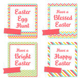 Easter Greeting Cards. Set of four instant photo frames cards Royalty Free Stock Photography