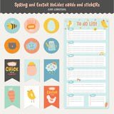 Easter greeting cards, tags, stickers and labels. Beautiful collection of Easter greeting cards, gift tags, stickers and labels templates in vector. Holiday Stock Photography