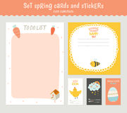 Easter greeting cards, tags, stickers and labels. Beautiful collection of Easter greeting cards, gift tags, stickers and labels templates in vector. Holiday Stock Image