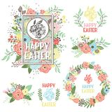 Easter Greeting Collection Set Royalty Free Stock Photography