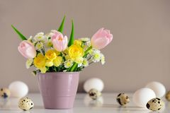 Easter greeting concept Stock Photos