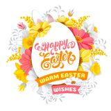 Easter greeting design template Royalty Free Stock Images