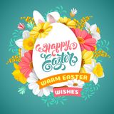 Easter greeting design template Royalty Free Stock Photo