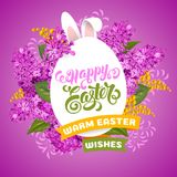 Easter greeting design template Stock Image