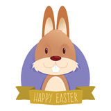 Easter Greeting With The Easter Bunny Royalty Free Stock Image