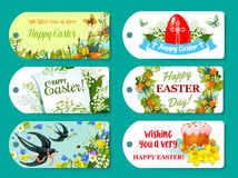 Easter greeting tag and label set for gift design Stock Photography