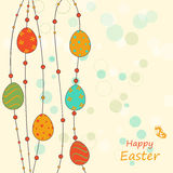 Easter greeting template Stock Images