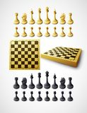 Chess. Vector illustration. Chess and chessboard. Vector illustration Stock Photography
