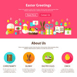 Easter Greeting Website Design Royalty Free Stock Photo