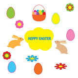 Easter greeting on white background Royalty Free Stock Photo