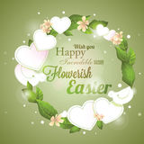 Easter greeting wreath Royalty Free Stock Photography