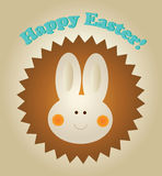 Easter Greetings. Smiling Easter bunny wishing Happy Easter Stock Image