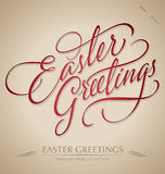 easter greetings hand lettering (vector) Stock Photography