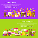 Easter Greetings Website Banners Royalty Free Stock Photo