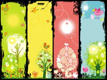 Easter grunge banners Stock Photo