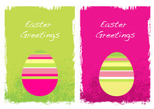 Easter Grunge Cards. Colorful Grunge Easter Cards with Eggs Stock Photography