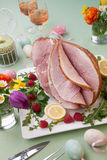 Easter Ham and Raspberry Royalty Free Stock Photography