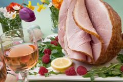 Easter Ham and Raspberry Stock Image