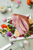 Easter Ham and Raspberry Royalty Free Stock Photo